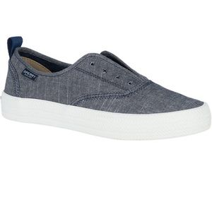 Sperry's Crest Knot Sneaker In Navy Chambray
